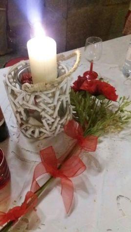cena in bianco e rosso - bardonecchia