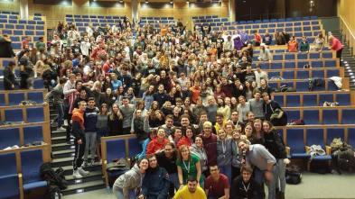 Assemblea di restituzione all'Università di Cracovia con tutti i partecipanti.