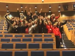 Gli studenti del Des Ambrois di Oulx all'Università di Cracovia.