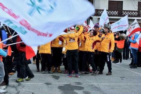 Cerimonia di apertura, la gioia di gruppo (Foto Gian Spagnolo)