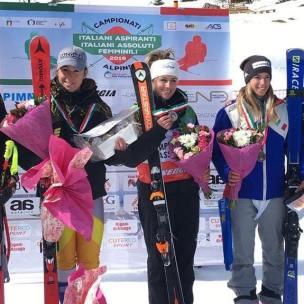 podio_Super-G_C.I.A. F_Passo San Pellegrino_27_03_2019_1