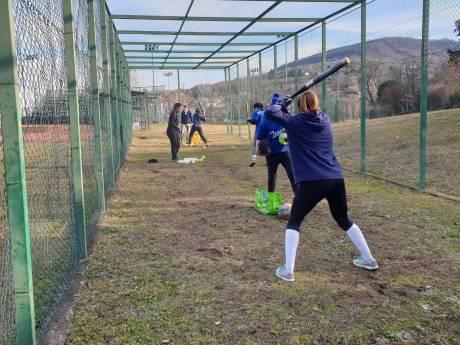 allenamento prima squadra softball
