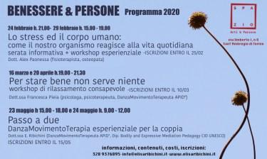 locandina BENESSERE & PERSONE 2020