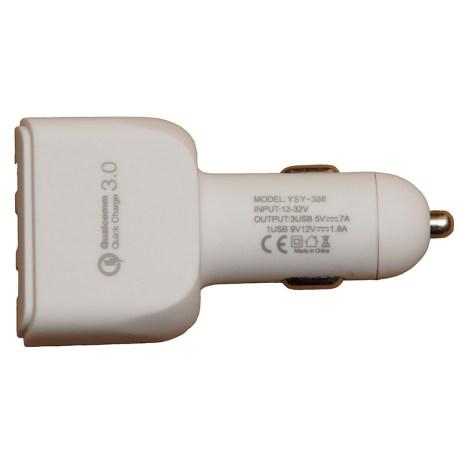 USB-laturi tupakansytyttimeen, USB-A, USB-C