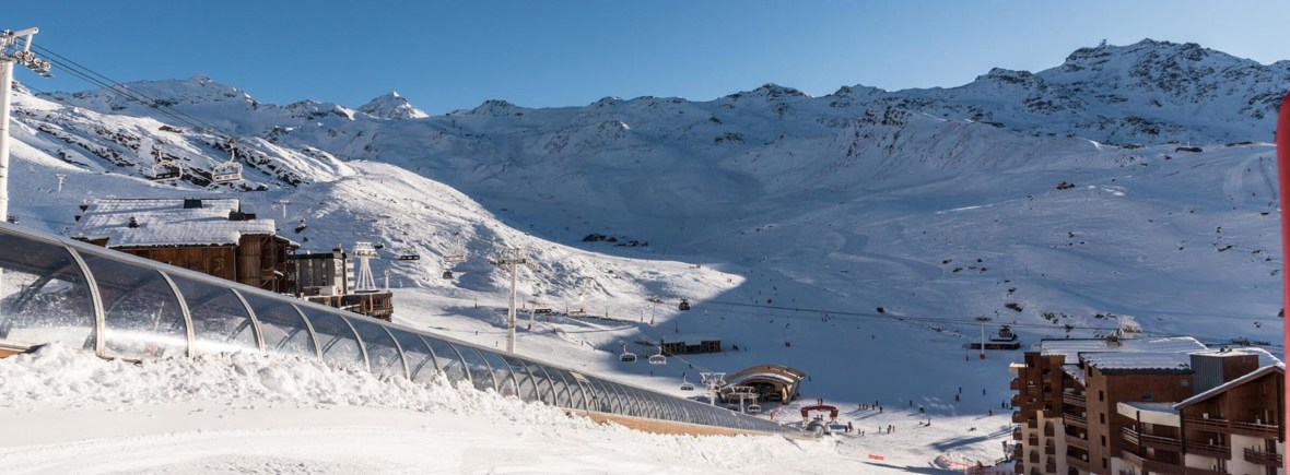 Vue depuis la location station de ski les trois vallées
