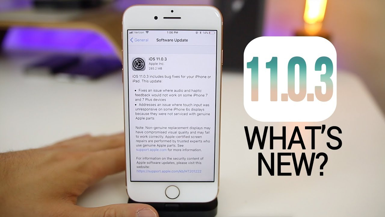 Apple iOS 11 0 3 is out now
