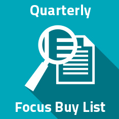Quaterly Focus Buy List