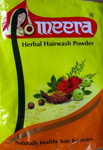 Herbal Hairwash with amla, tulsi, hibiscus, sheekakai, green gram, fenugreek