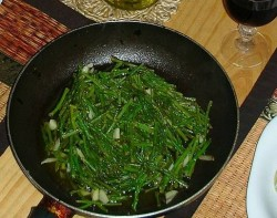 Sauteed Wild asparagus