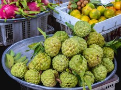 custard apples in market