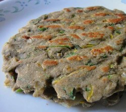 Thalipeeth using bajra flour