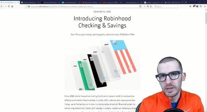 Robinhood 3 percent Checking Account