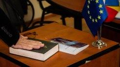 Învestirea în funcție a primarului Florin Mitroi. FOTO Paul Alexe