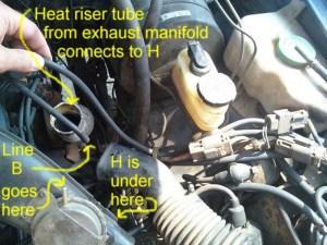 Como se conectan las mangueras del carburador de motor z24 1985