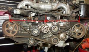 o poner a tiempo un motor ej20g turbo de 2 arboles de leva
