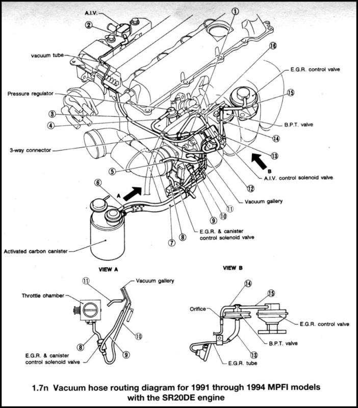 Turbocharger Vacuum Hose Diagram