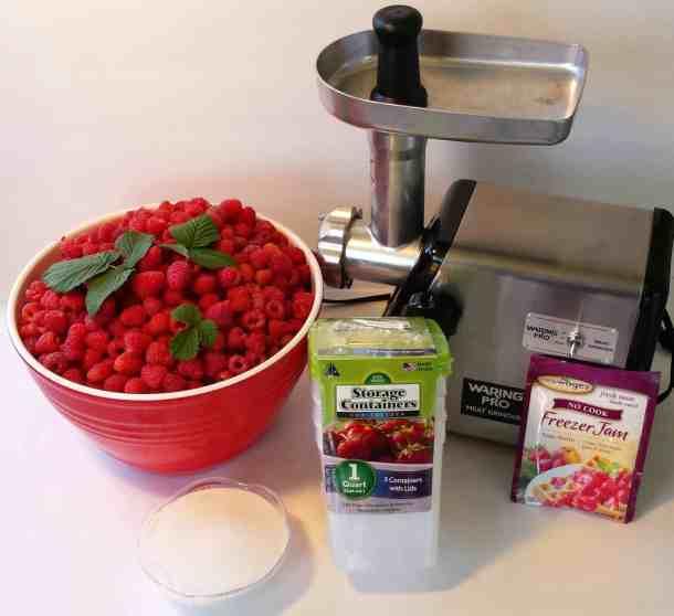 No Cook Raspberry Freezer Jam