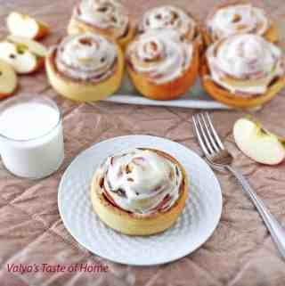 Cinnamon Rolls with Apples and Cream Cheese Frosting