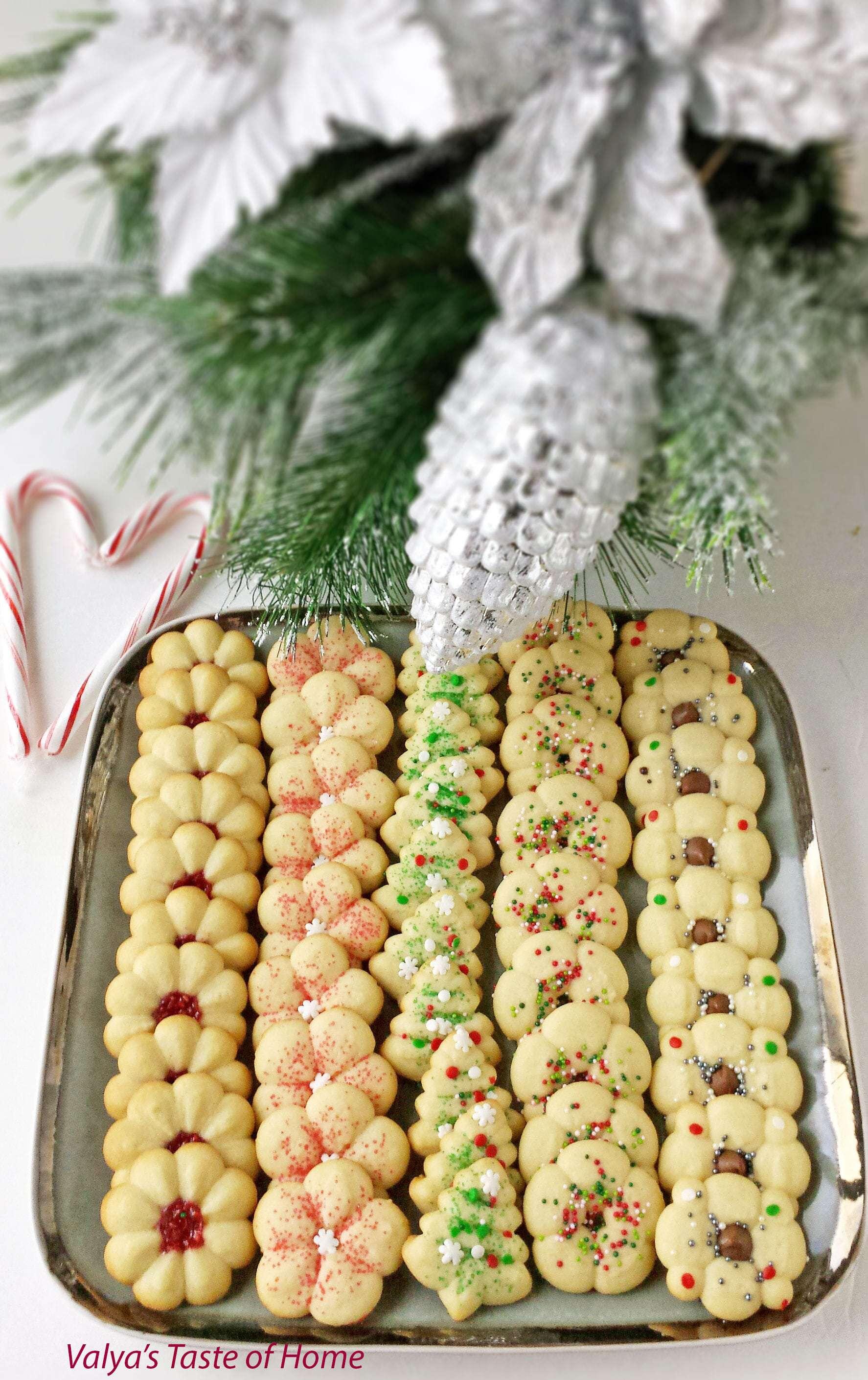 Christmas Spritz Cookies Valya S Taste Of Home