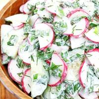 Chives, Radish, and Cucumber Salad Recipe