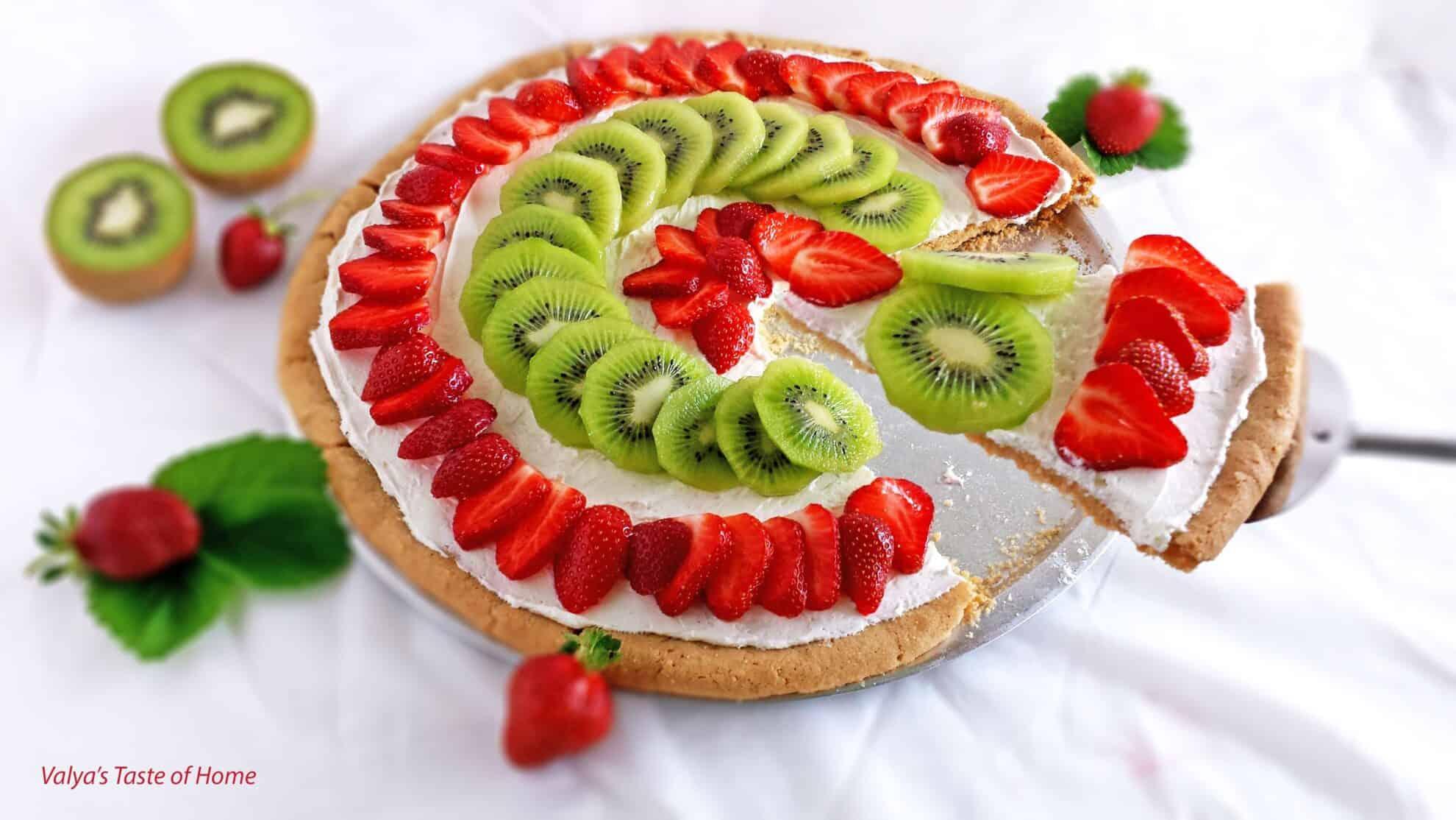 Strawberry Kiwi Dessert Pizza 171 Valya S Taste Of Home