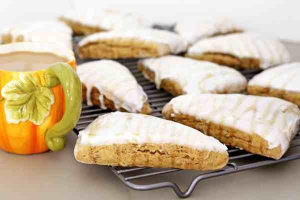 Caramel Pumpkin Scones with Pecans
