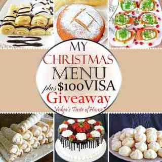 My 2016 Christmas Menu + $100 Visa Giveaway!
