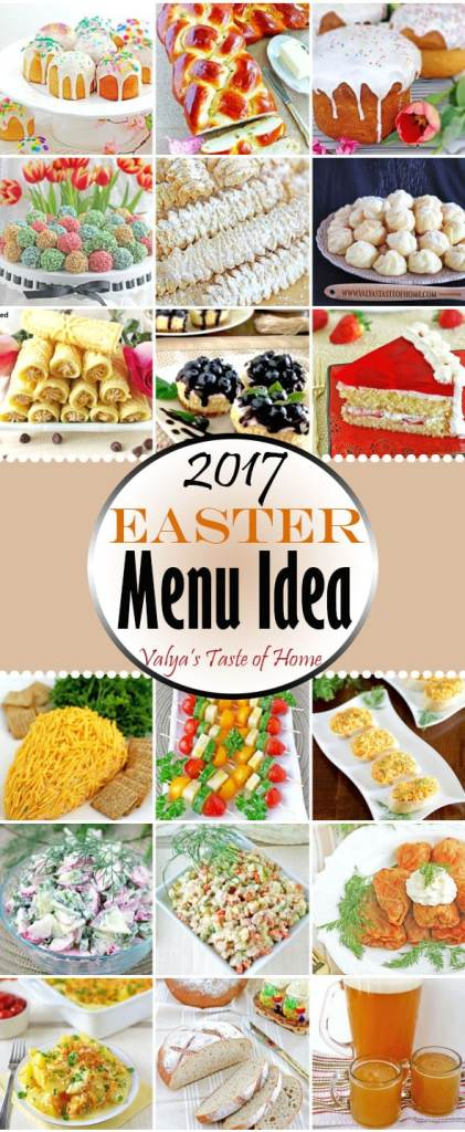 2017 Easter Menu Ideas