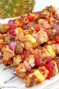 Grilled Hawaiian Chicken Kabobs