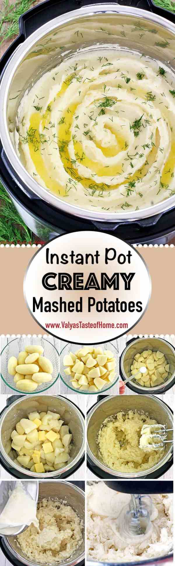 Is there anything more comforting food than mashed potatoes? It never gets old at our house. I really wanted to post this quick, creamy, and delicious Instant Pot version of it before Thanksgiving to save you time in the upcoming holiday cooking! You know what is the most important thing I absolutely love about making mashed potatoes in the Instant Pot? Once you mash the potato with a hand mixer (or a potato masher) it can be kept in the pot on warm cycle for hours. The taste and texture are the same as it was just freshly mashed!