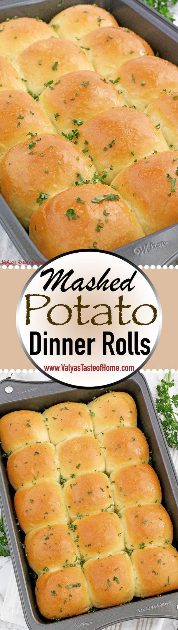 Do you have leftover mashed potatoes? Do not throw it away! Save it and put it into good use. These super soft as a brand-new pillow Mashed Potato Dinner Rolls are comforting, flavorful, light, tender, fluffy and absolutely amazing! #dinnerrolls #easyrecipe #familyfavorite #kidfriendly   www.valyastasteofhome.com