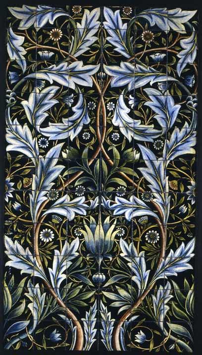 A William Morris And William De Morgan Tile Panel Victoria And Albert Museum