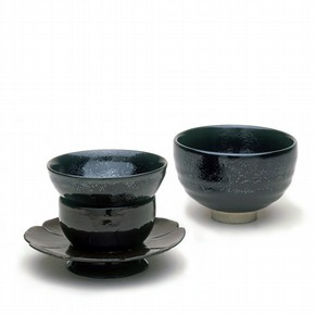 Tea Bowls, 1984 and 1000-1125. Museum nos. C.18-1935, W.3-1938, FE.51-1984