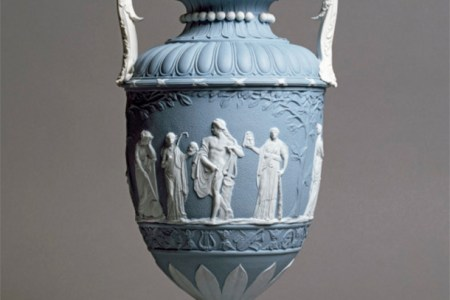 Caring for your Ceramics   Victoria and Albert Museum Jasperware vase and cover  John Flaxman  Wedgwood  England  About 1780   Unglazed stoneware  Museum no  2416 1901