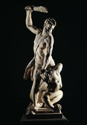 Marble statue of Samson slaying a Philistine, by Giambologna, Florence, Italy, about 1562. Museum no. A.7-1954, © Victoria and Albert Museum, London. Purchased with the assistance of The Art Fund