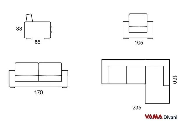 corner sofas dimensions