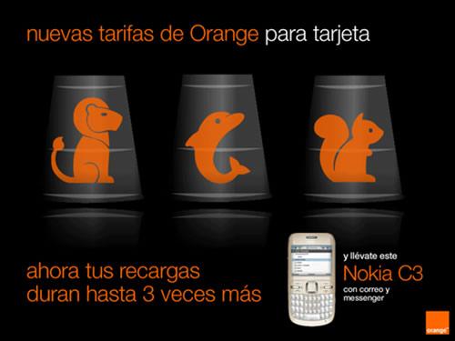 Cartelera-promociones de Orange