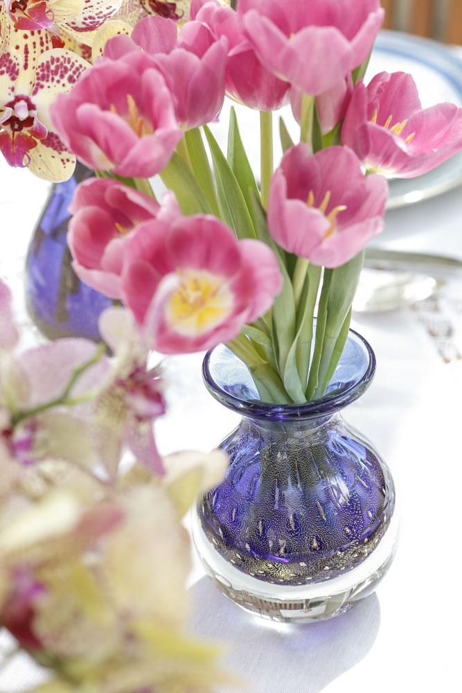 decor com flores delicadas