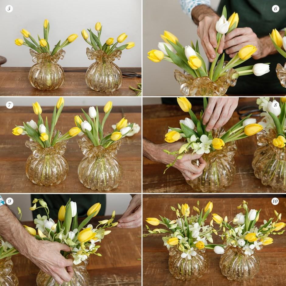 como montar arranjo de flores