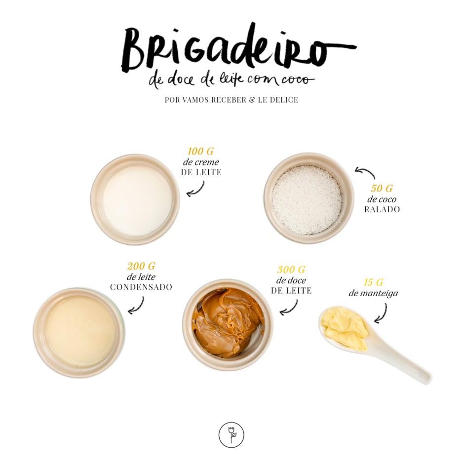 receita de brigadeiro de doce de leite