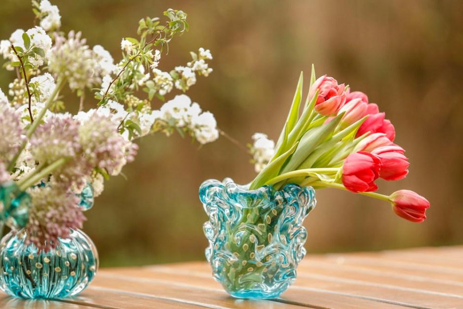 arranjos de flores em muranos da Paula Bassini