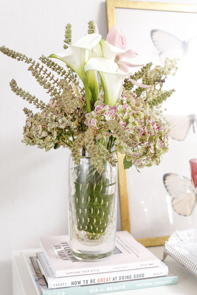 folhas de ouro em vasos Cristais Cá d'Oro