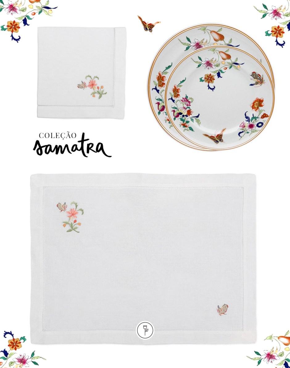 porcelana portuguesa com pinturas de flores