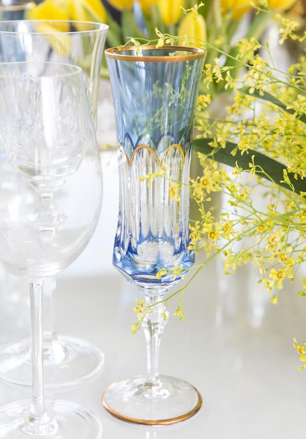 taça de cristal azul tania bulhões