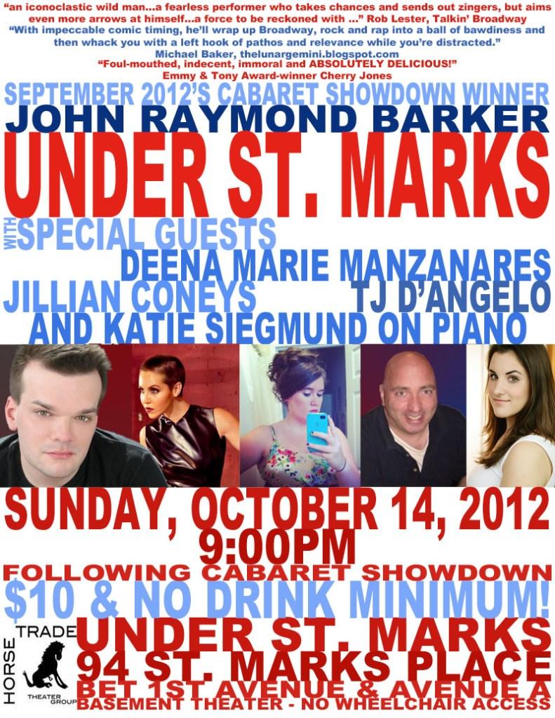 Under St. Marks cabaret poster