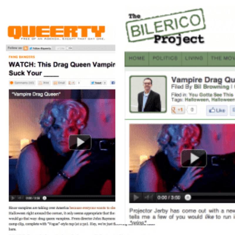 """Press for """"Vampire Drag Queen"""""""