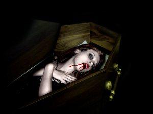 Vampire Girl in Coffin