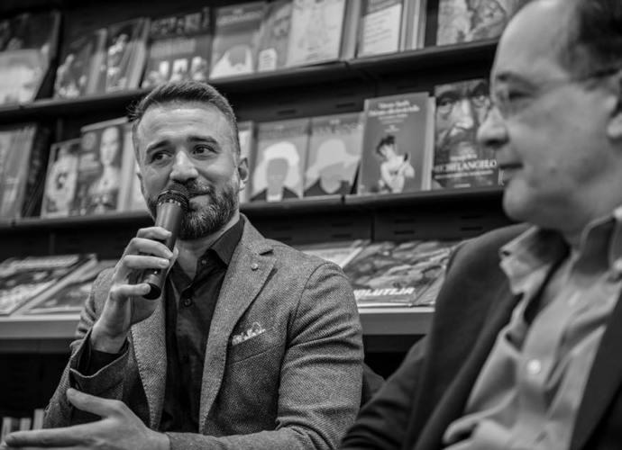 Antonio Lanzetta - Conferenza stampa: I figli del male - Feltrinelli Salerno