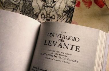 pagina con titolo libro Un viaggio nel Levante di Joseph Pitton de Tournefort – Draculea
