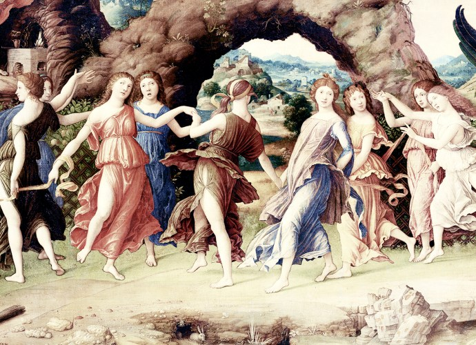 muse danzanti - Andrea Mantegna - Teogonia di esiodo